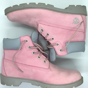 TIMBERLAND | pink leather boots 6M